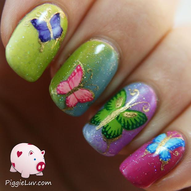 piggieluv rainbow butterflies