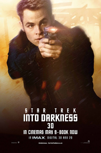 Star Trek Into Darkness Character Portrait Theatrical One Sheet Movie Poster Set - Chris Pine as James T. Kirk