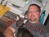 Sweet Husband Jason with Lola - our sweet crazy puppy