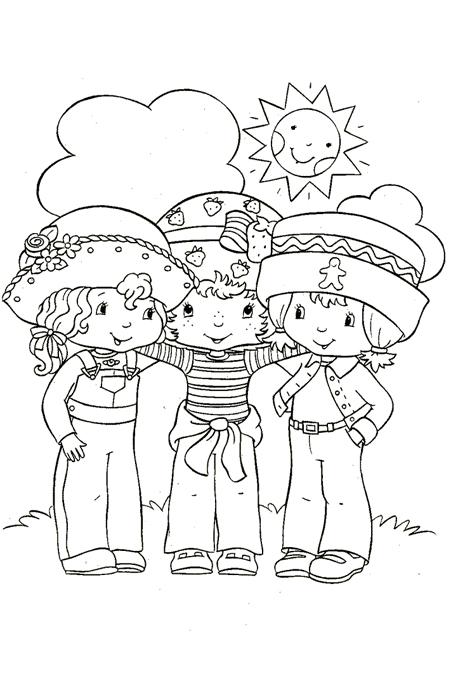 صورة أصدقاء اطفال مجتمعين للتلوين