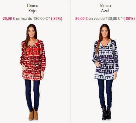 Dos ejemplos de túnicas que podrás comprar dentro muy rebajadas