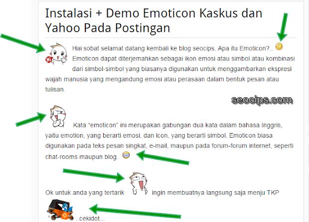 Memasang Emoticons di Postingan Blog Blogspot Blogger