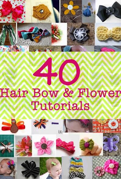 cute hair bow and flower ideas