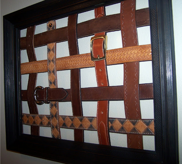 repurposed leather belt message board http://bec4-beyondthepicketfence.blogspot.com/2011/02/belted-inspiration.html