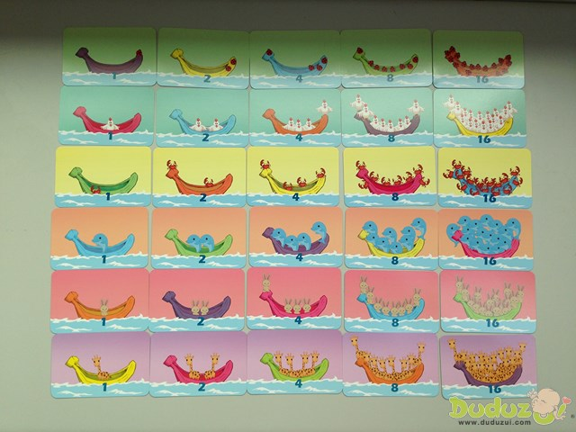 36張動物香蕉船卡片