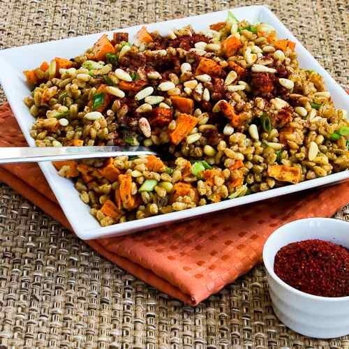 Farro and Roasted Sweet Potato Salad