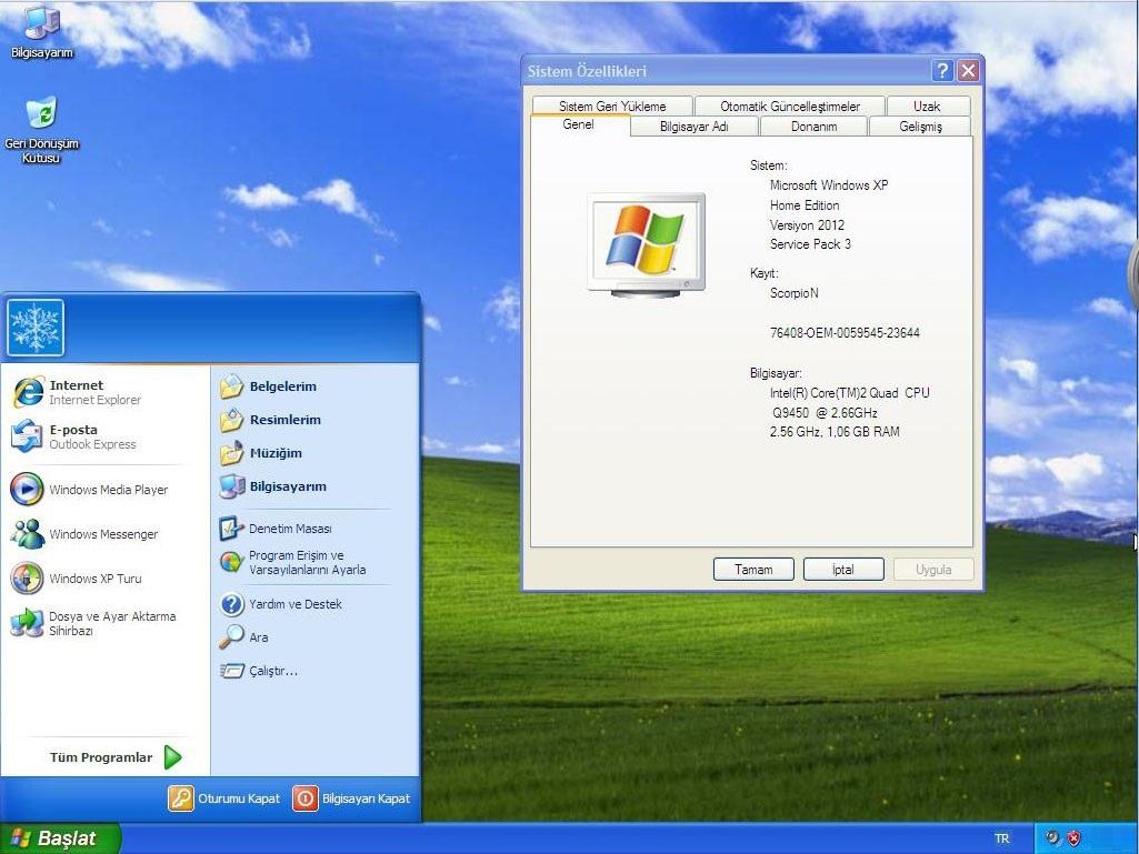 Windows xp sistem gereksinimleri for Window xp iso