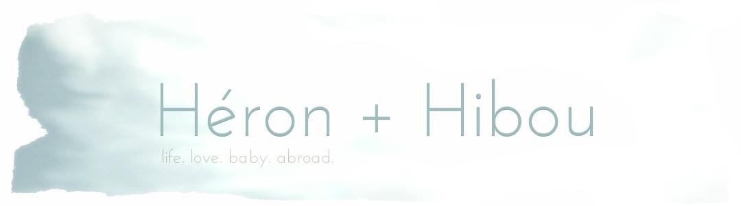 héron + hibou