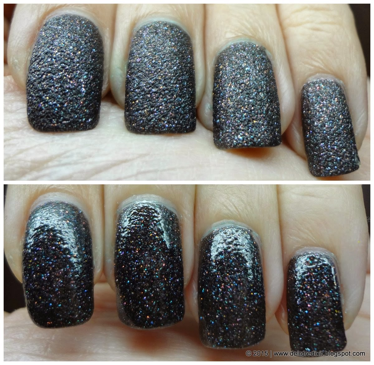 Kiko Real Glare nr. 06 in Exciting Dark Brown without/with Top Coat