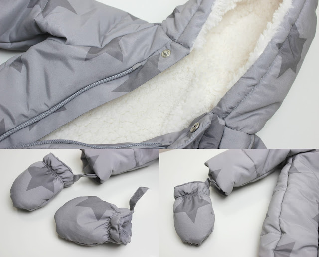 A picture of Asda Star Print Snowsuit
