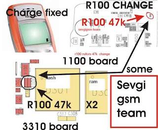 Ponsel Nokia 1100 Charging solusi