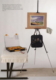 Jenny's studio set up