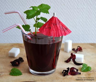 recette thé fleurs hibiscus agua jamaica