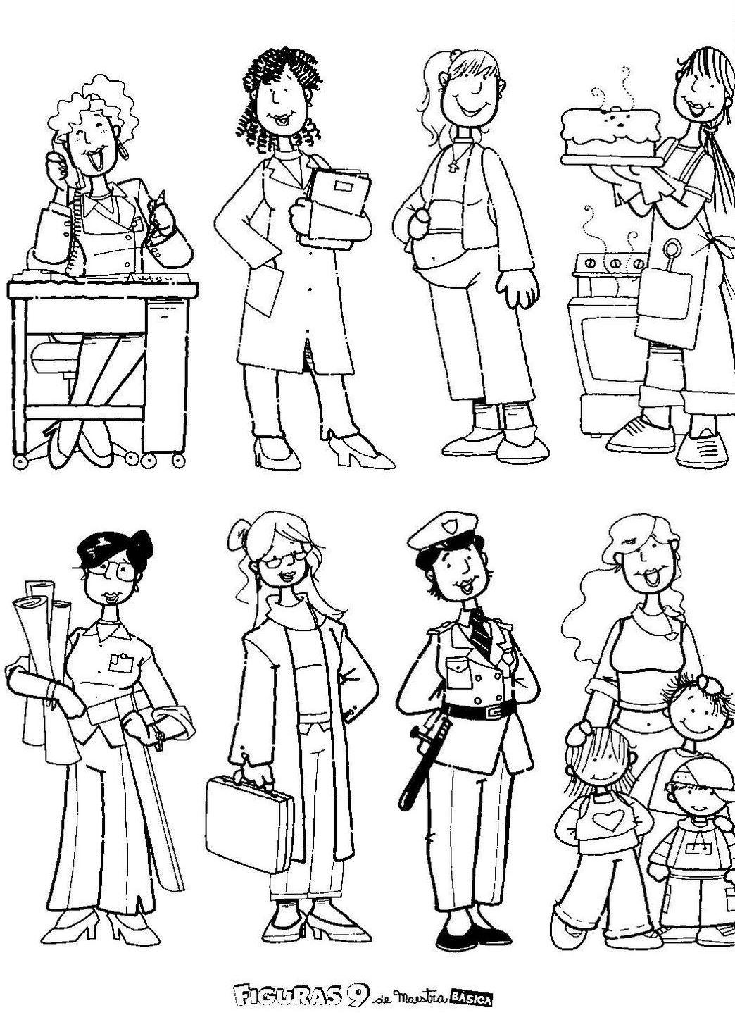 Para Imprimir Ampliar Ou Salvar Os Desenhos Das Mulheres   Clique No