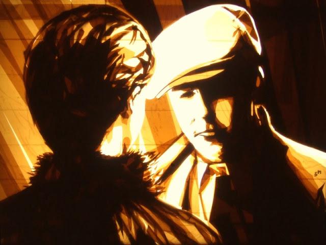 Max Zorn. Artista de arte moderno. Arte callejero. Uso de cinta adhesiva. Pinturas contemporáneas.