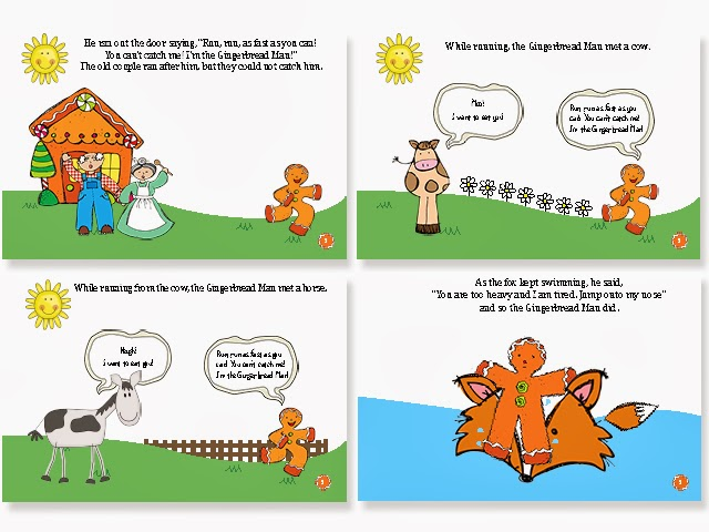 Gingerbread Man Book The gingerbread man story