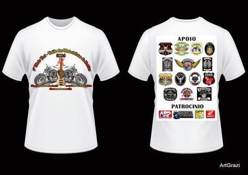 Camisa do evento de moto clubes em belém