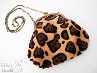 bag, bag-clasps, chain, clasp frame, clutch bag, faux fur, leopard, man-made, Remnant Kings, speckles, beaded, animal-friendly, animal print, spots, lining, polyester, cotton