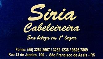 SIRIA CABELEIREIRA