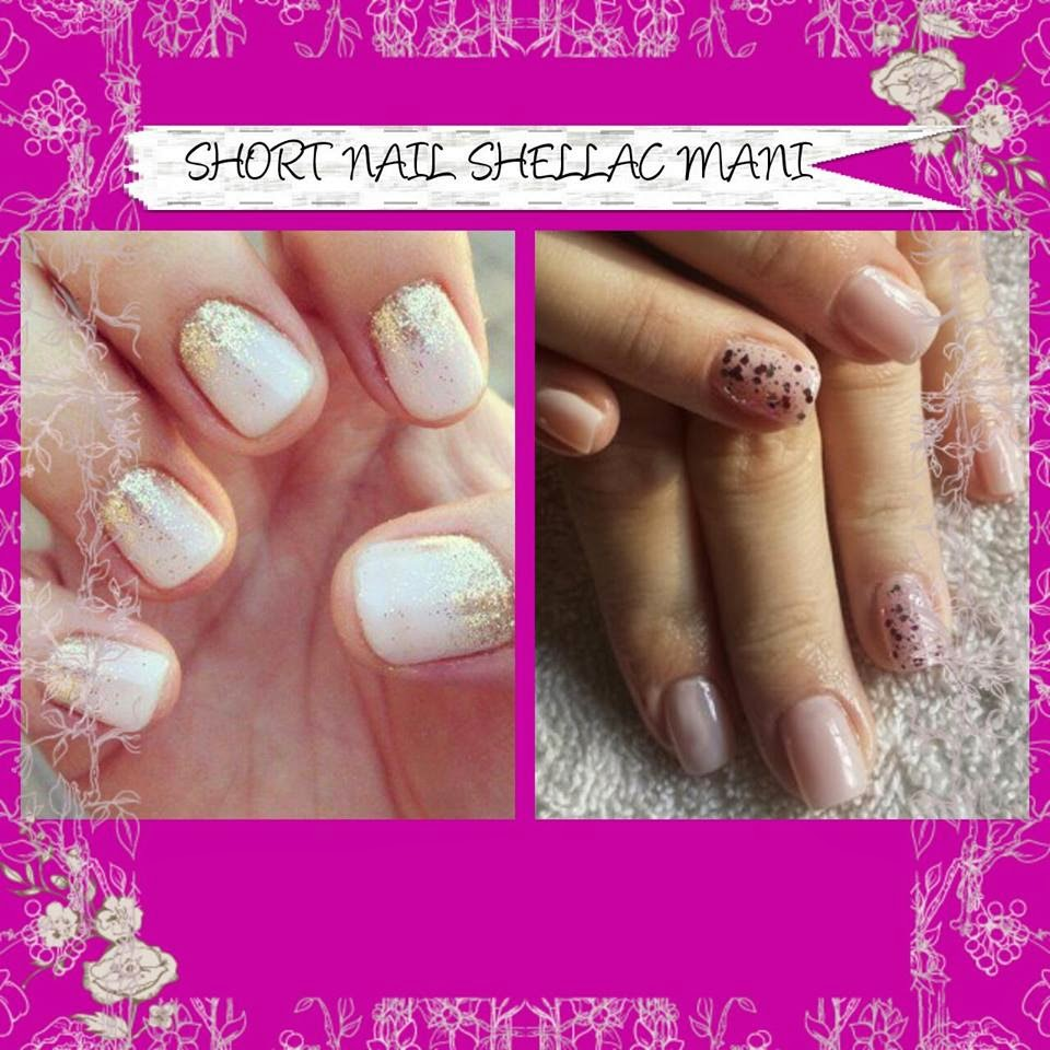 Acrylic Shellac manicure polish natural nail