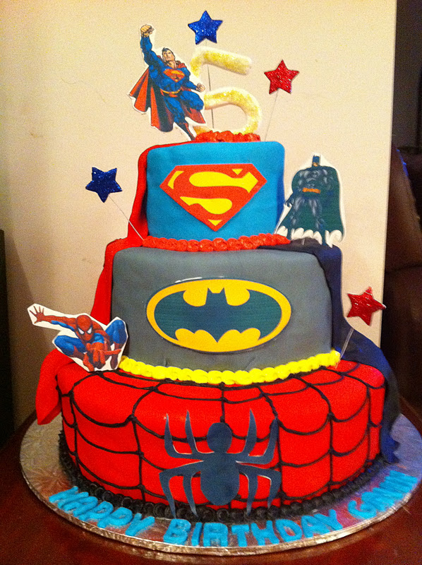 Love Dem Goodies Superhero Birthday Cake