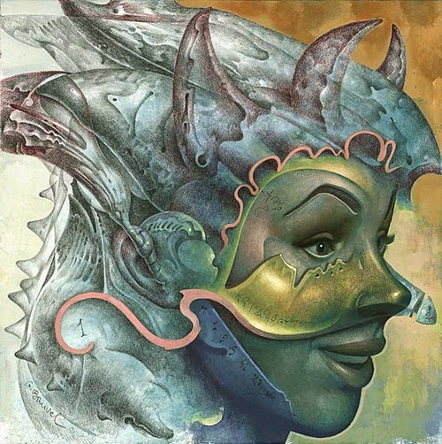 09-Mask-of-Personal-Happiness-Gil-Bruvel-Insurgence-of-the-Mind-Surreal-Paintings-www-designstack-co