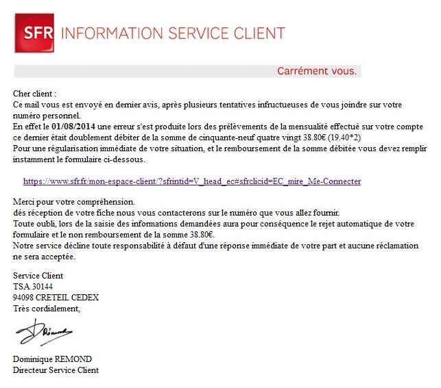 info sfr service client