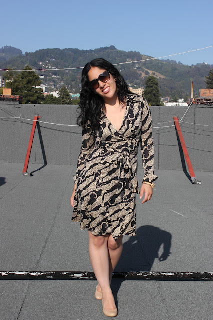 Tiger Print Vintage DVF Wrap Dress