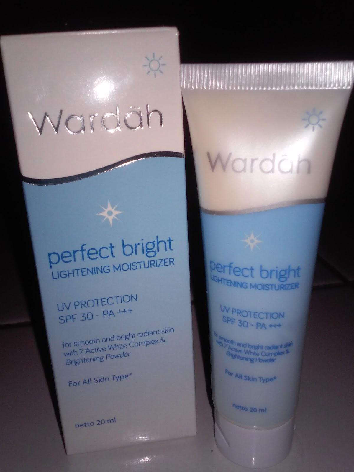 Review Wardah Perfect Bright Lightening Moisturizer La Blog