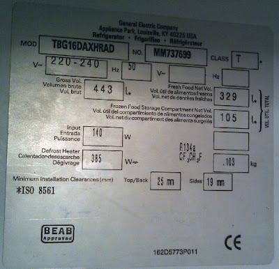 General Electric TBG16DAXHRAD