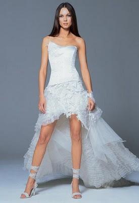 Vestido de boda cola de pato