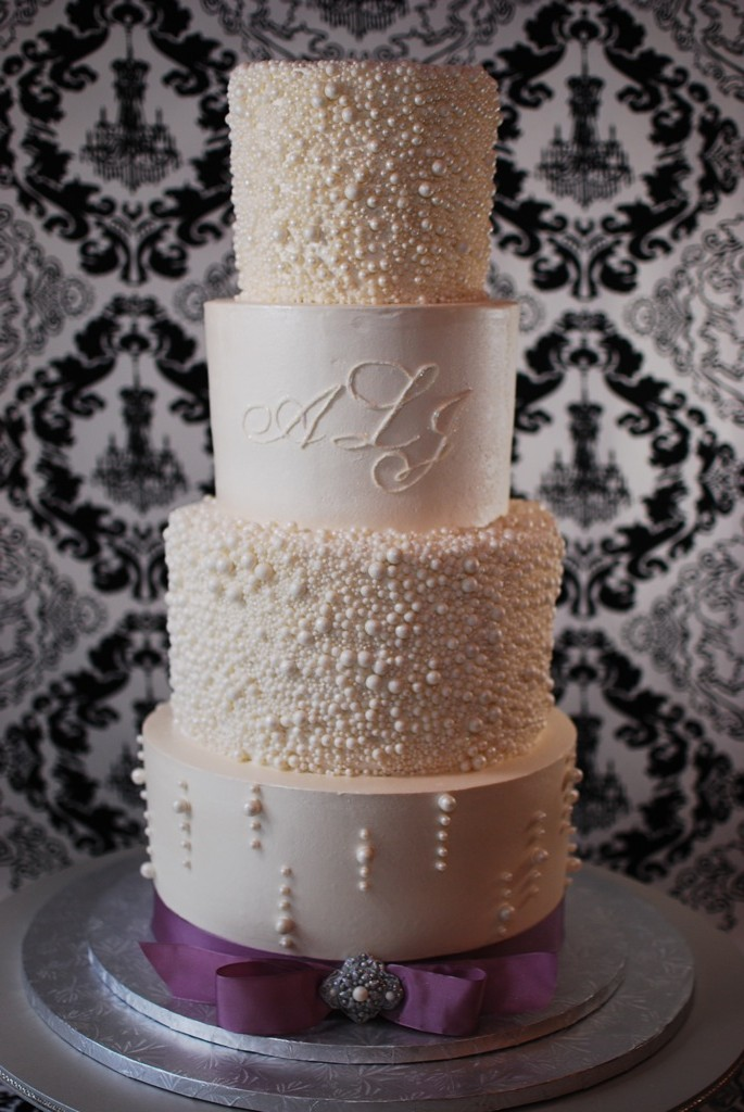 Cup a Dee Cakes Blog: Pearl Encrusted Wedding Cake