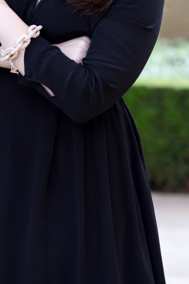 classic-black-wrap-dress-pave-link-bracelet-king-and-kind-style-blog-valentines-day-date-night-outfit-ideas