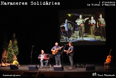 Grup L'Espingari a la cantada d'havaneres Solidàries de La Bisbal d'Empordà