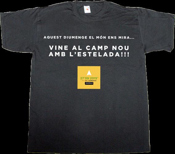 catalonia independence freedom fc Barcelona barça estelada t-shirt ephemeral-t-shirts