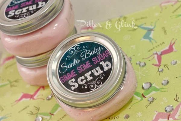 Three Ingredient Sugar Scrub with Free Printable Labels from Pitter & Glink