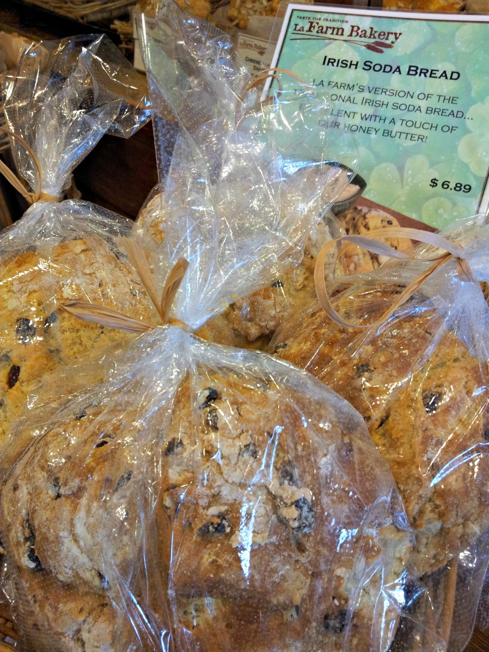 Irish Soda Bread sold at LaFarm Bakery in Cary, N.C.