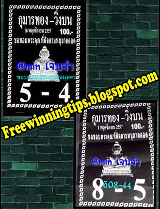 Thai lottery Special Touch Tip 16-11-2014