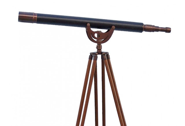Antique Copper With Leather Anchormaster Telescope