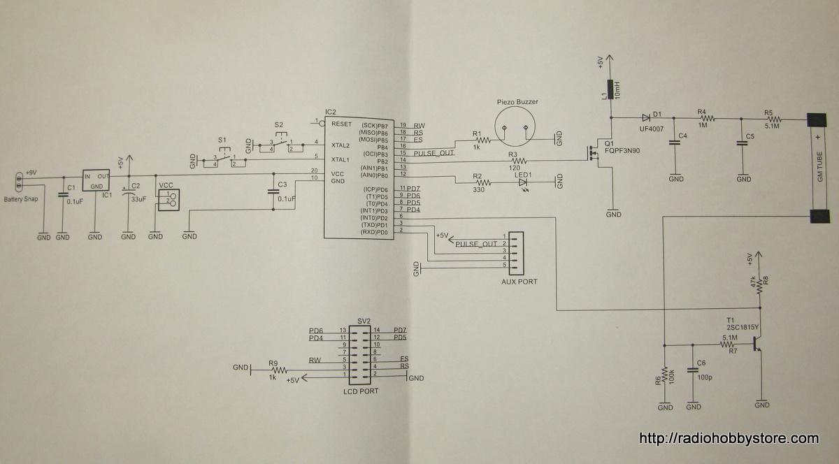 Geiger Counter NetIO GC10 circuit shematic diy electronics diy netio geiger counter kit gc10 (japan) review