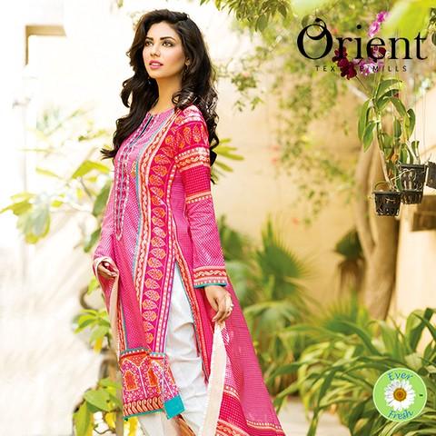 Orient Textile 2-PC Lawn Shirt Plus Trouser 2015-2016