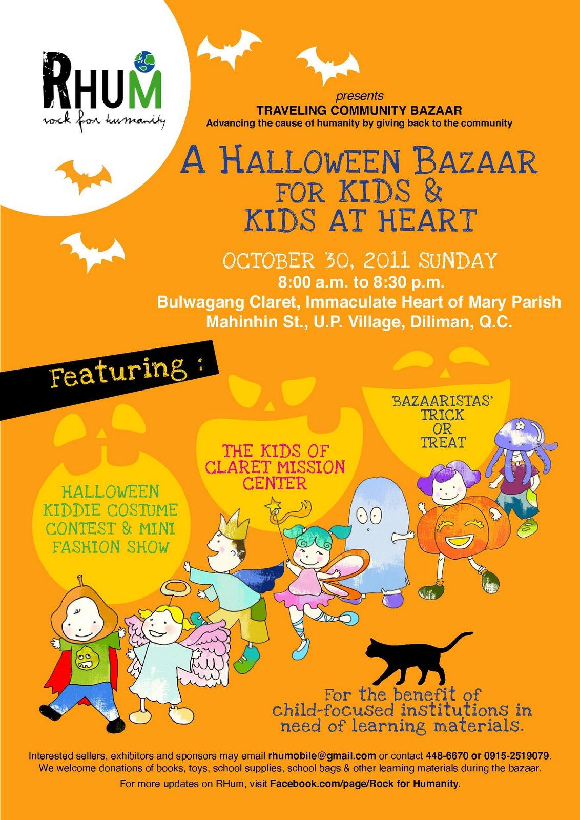 halloween bazaar to benefit kids in need of books