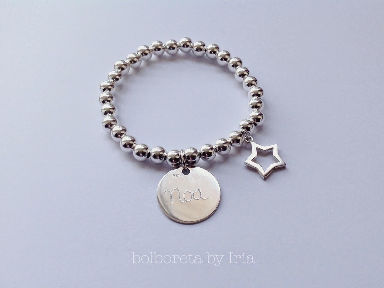 8a1d754c1601 Bolboreta by Iria (complementos)  Pulsera de bolas de plata