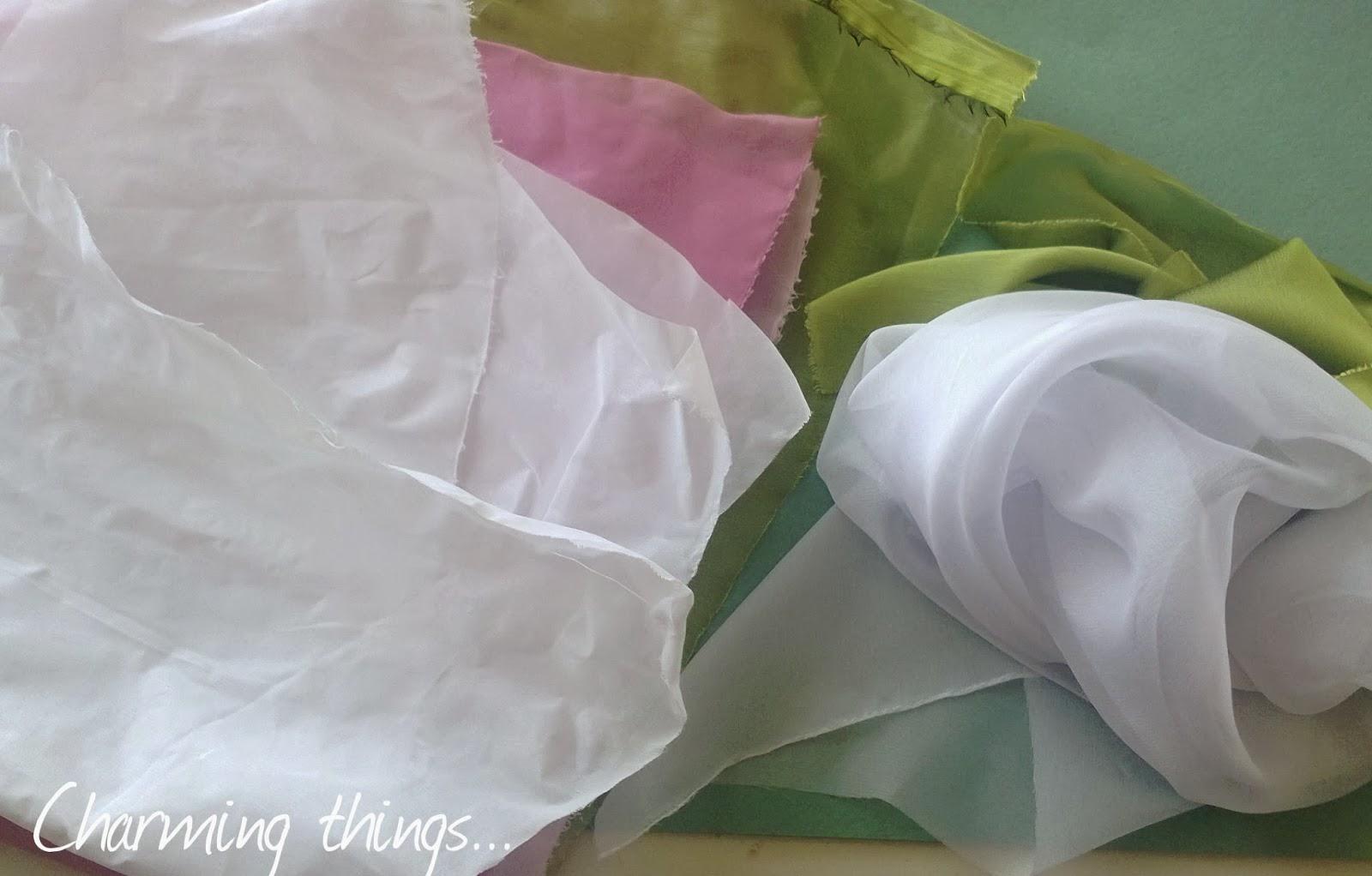Цветы из ткани желатиновой своими руками фото