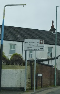 The only road sign we saw for Luton in Kent showed it was one mile away