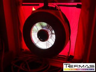 sandrumo testo ventiliatorius