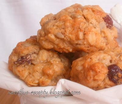 Brusnicové cookies so slnečnicou