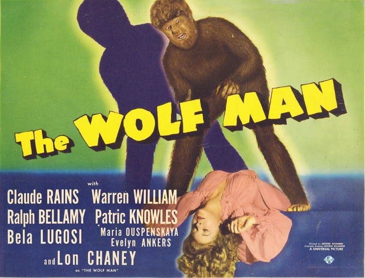 A Vintage Nerd, Classic Film Blog, Old Hollywood Blog, Classic Monster Movies, The Wolf Man