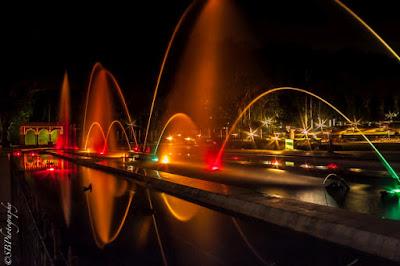 fountains innight at brindavan gardens - Mysore