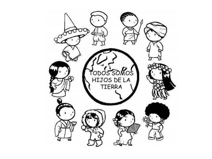 diversity children coloring pages - photo#13